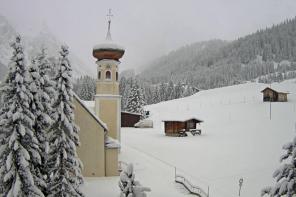 Het sneeuwt in de Alpen