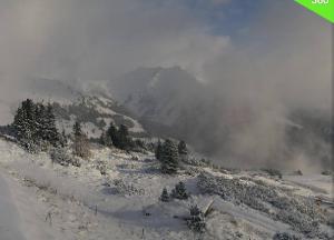 sneeuw in de alpen