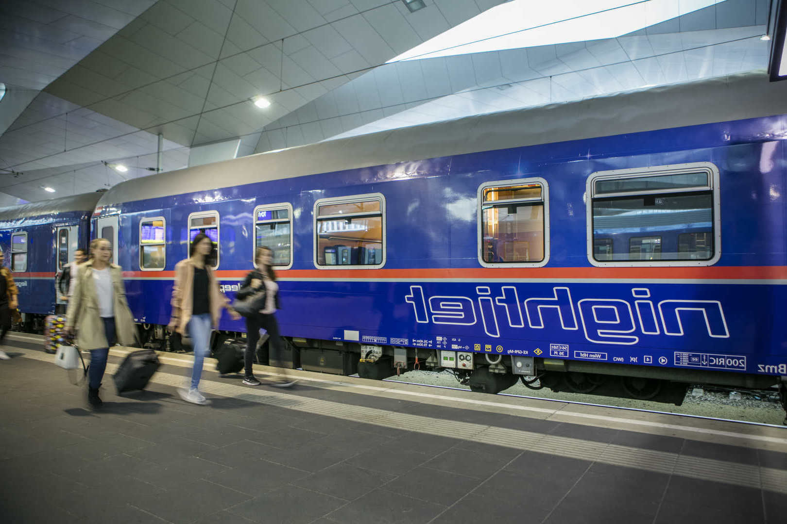 Nachttrein naar Wenen